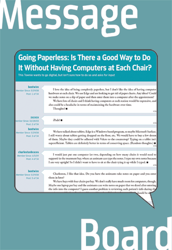 Going Paperless: Is There a Good Way to Do It Without Having Computers at Each Chair? This Townie wants to go digital, but isn't sure how to do so and asks for input.