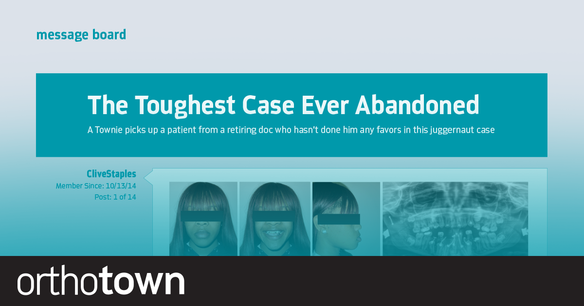 The Toughest Case Ever Abandoned A Townie picks up a patient from a retiring doc who hasn't done him any favors in this juggernaut case.