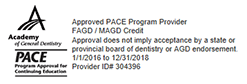 American General Dentistry (AGD), Program Approval for Continuing Education (PACE) approved, FAGD / MAGD Credit